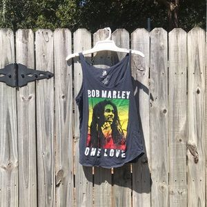 Medium bob Marley one love tank top